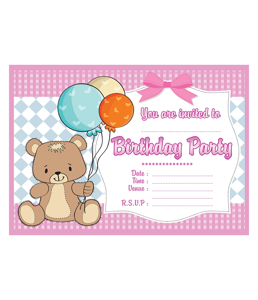 Teddy bear birthday party invitations birthday party invitations available with or without envelopes available in quantities of 10 20 30 40 50 filmwisefo