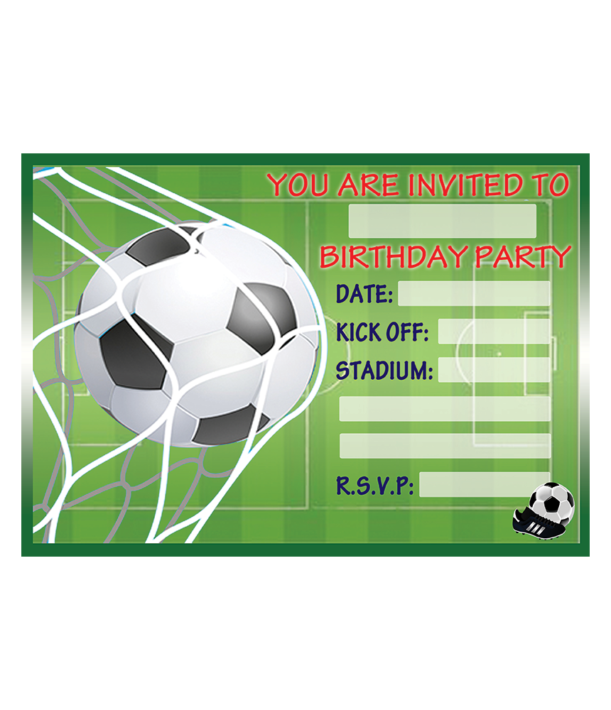 Birthday Party Invitations Available With Or Without Envelopes In Quantities Of 10 20 30 40 50